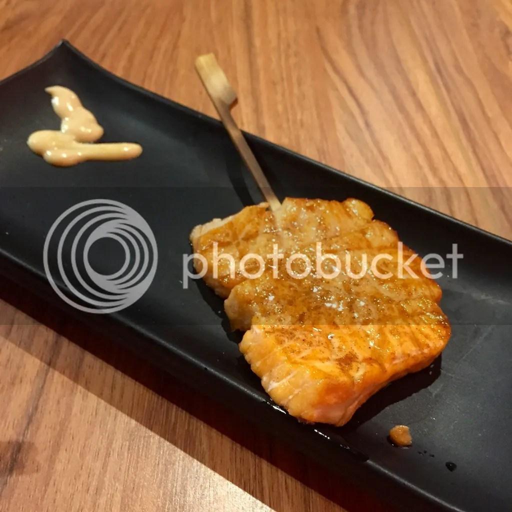 Chotto Matte Salmon Cubes Yakitori