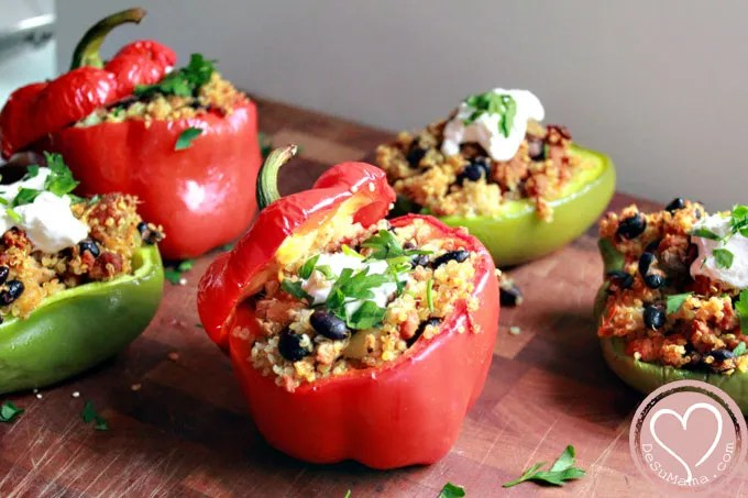 stuffed bell peppers, stuffed peppers recipes, green pepper recipes, red bell peppers, food traditions, latino foods, hispanic recipes