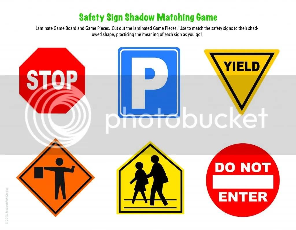 Safety Signs Worksheet For Preschoolers