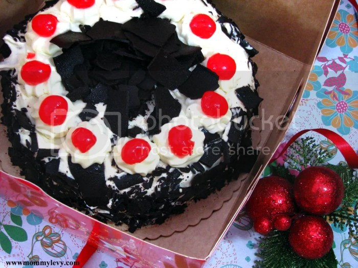 Red Ribbon Black Forest Cake