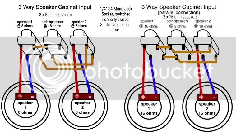 guitar speaker cabinet wiring diagrams enthusiast wiring diagrams u2022 rh rasalibre co Speaker Wiring Parallel vs Series Speaker Wiring Parallel vs Series