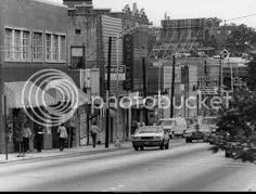 Peachtree Street at 10th, Atlanta -1979.