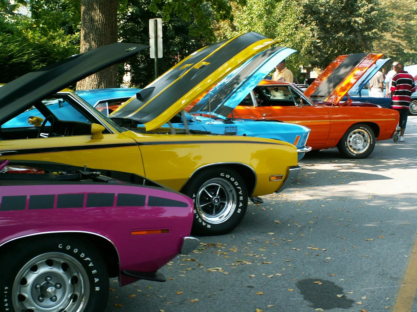 Shickshinny Pennsylvania Car show color cars