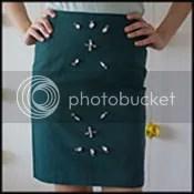 Embellished Pencil Skirt