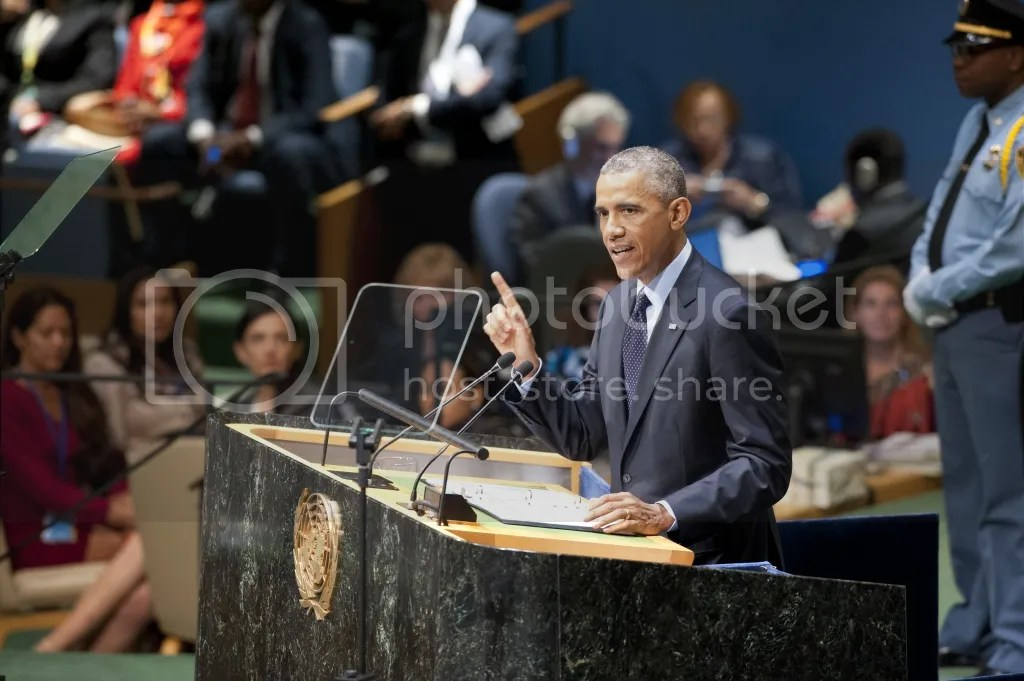 https://ranijarkas.wordpress.com - United States President Barack Obama, speaks at the UN Climate Summit 2014. UN Photo/Kim Haughton