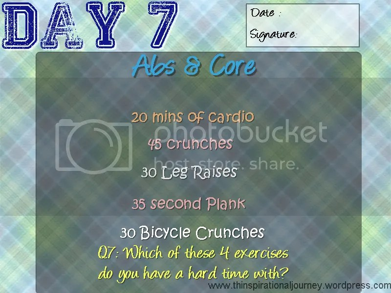 Day 7 of Abs and core challenge