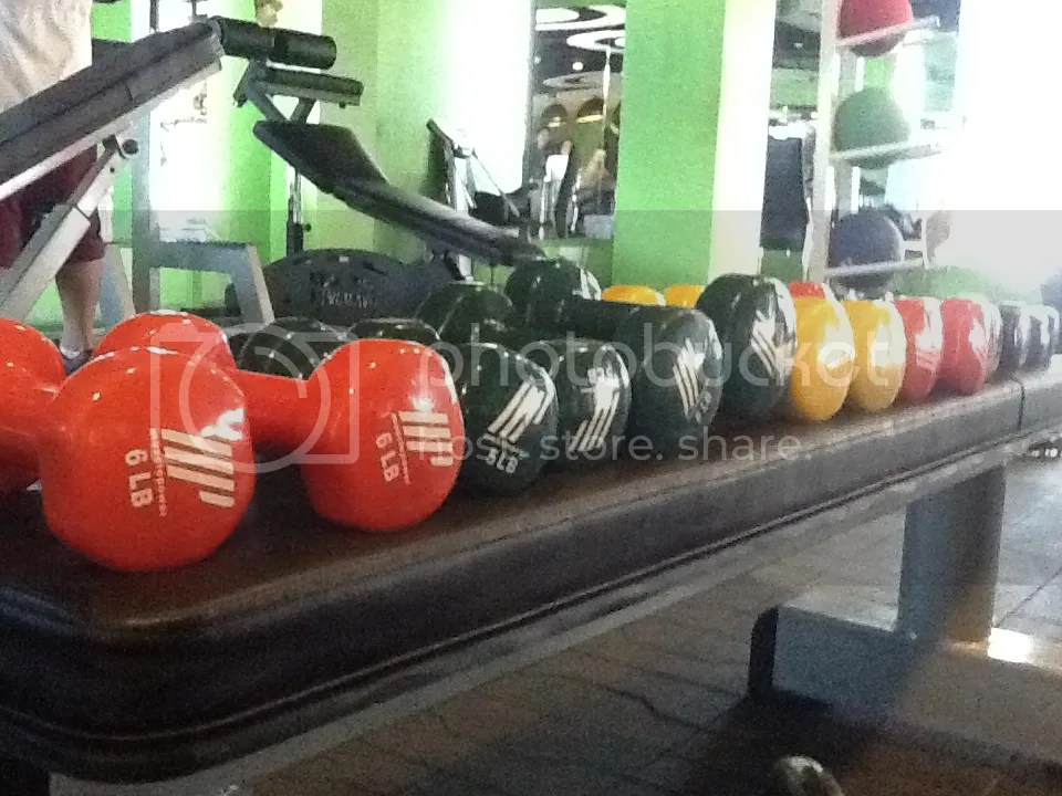 the dumbbells that killed Lara Novales today ^_^