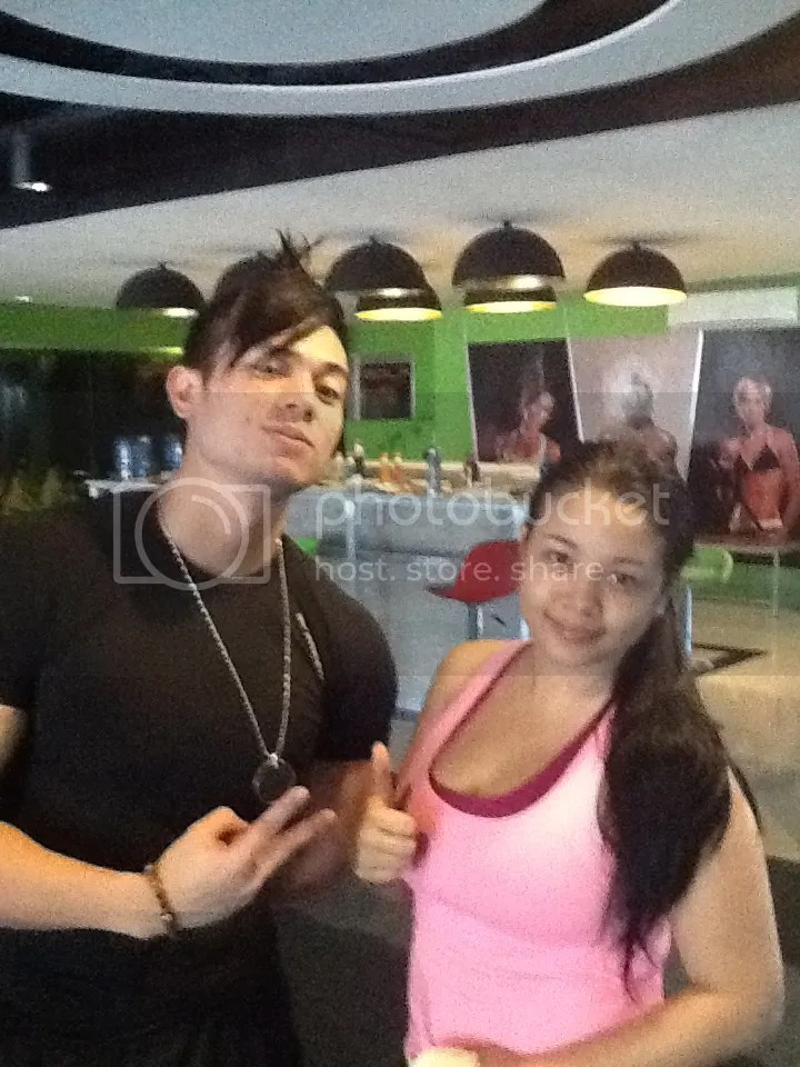 Lara Novales with Marty Laoang in Eclipse Gym Bacolod