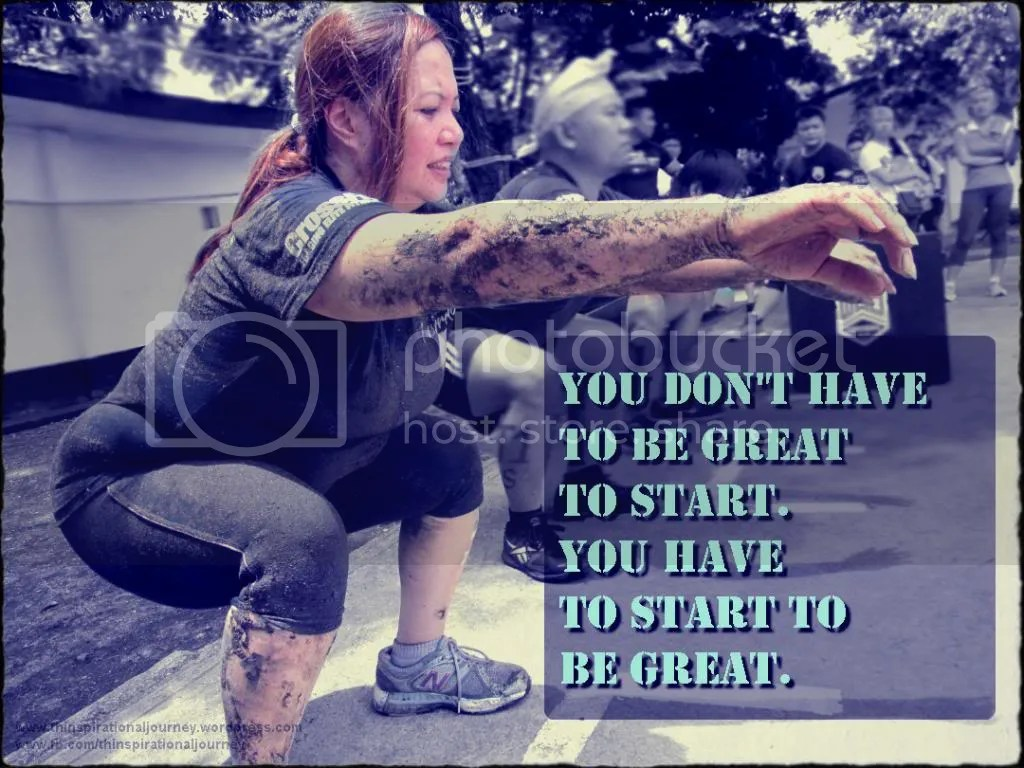 You dont have to be great to start