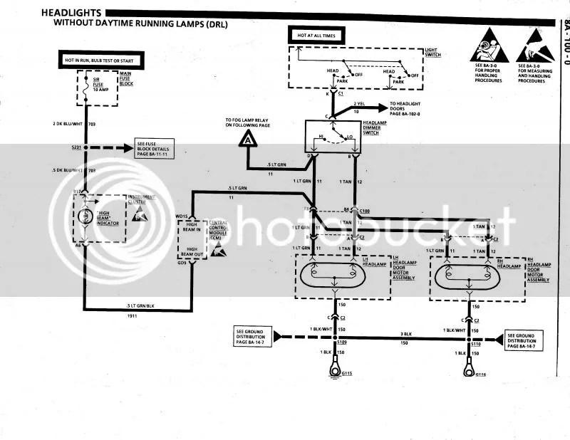 77 Corvette Headlight Vacuum Diagram