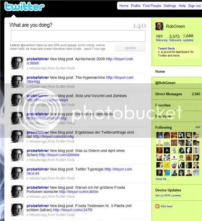 Mein kleiner Twitterunfall letzte Woche ;)