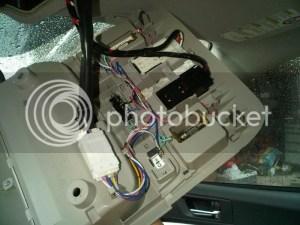 Missing wiring harnass auto dimming mirror??  Subaru