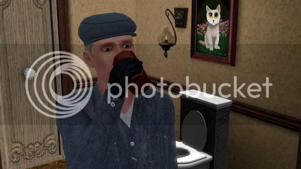 Edvin Oss drinking sorrow away