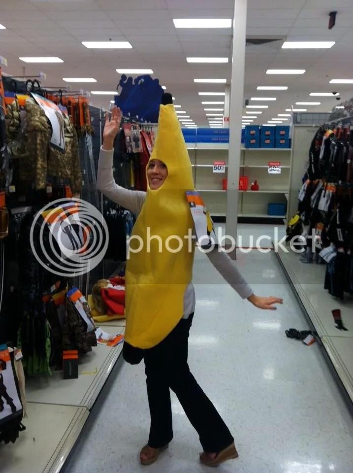 target, banana, costume, halloween