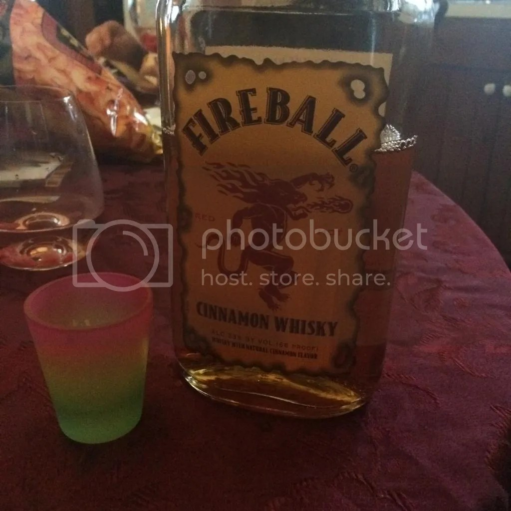 fireball shot, thanksgiving, shots