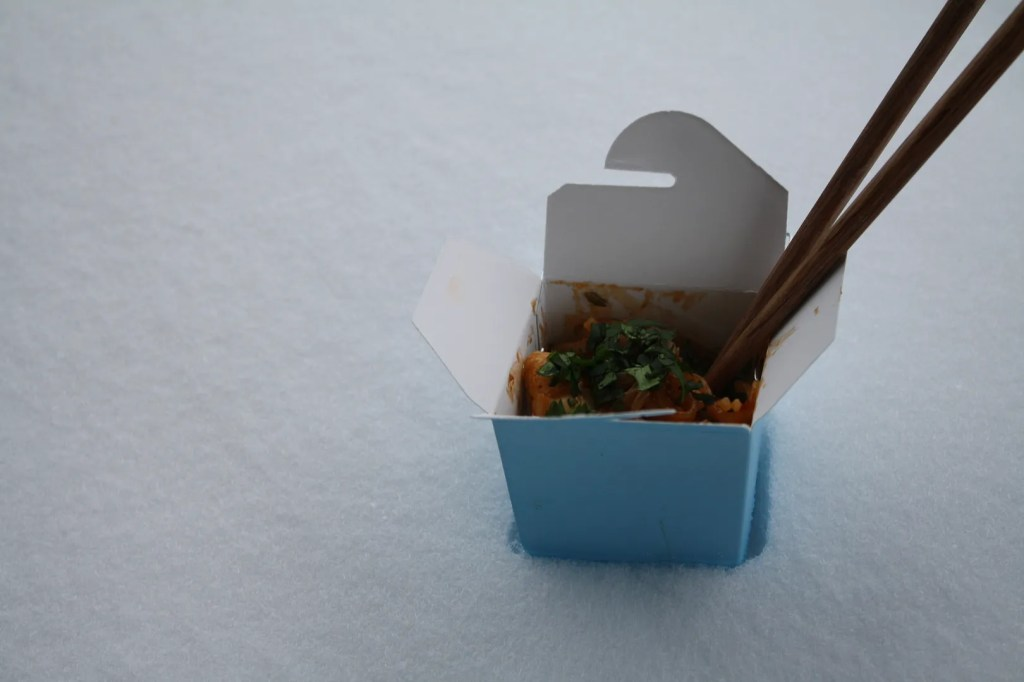 Snowed in take-out and a fabulous Blue Dragon giveaway