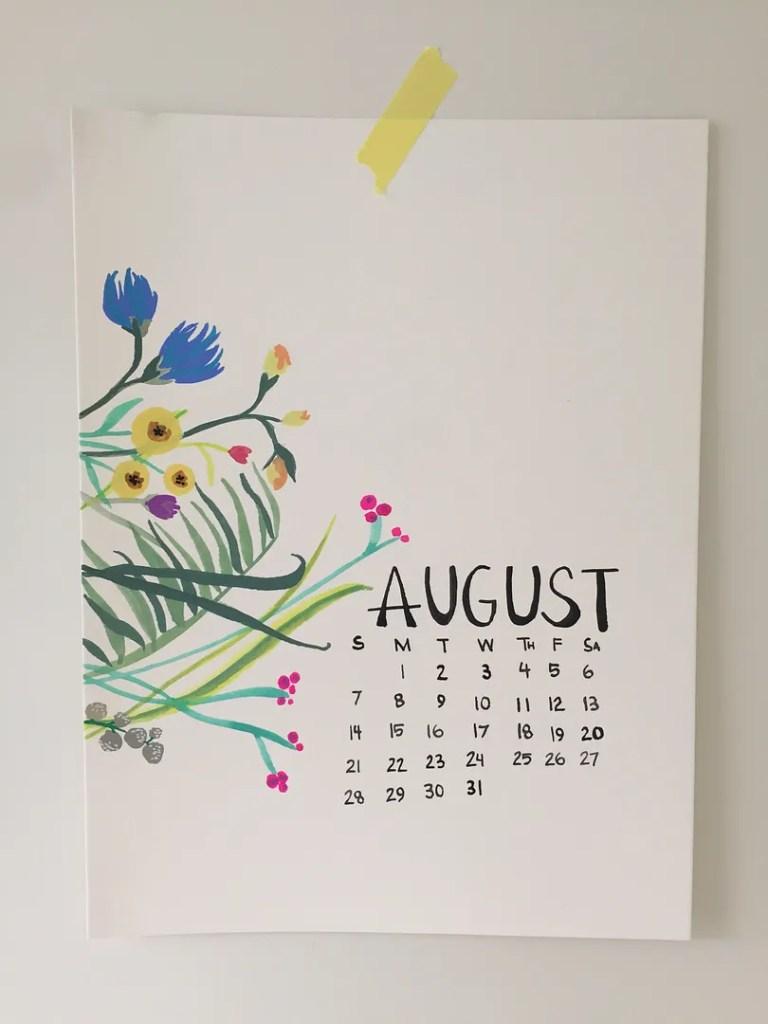 august goals printable calendar