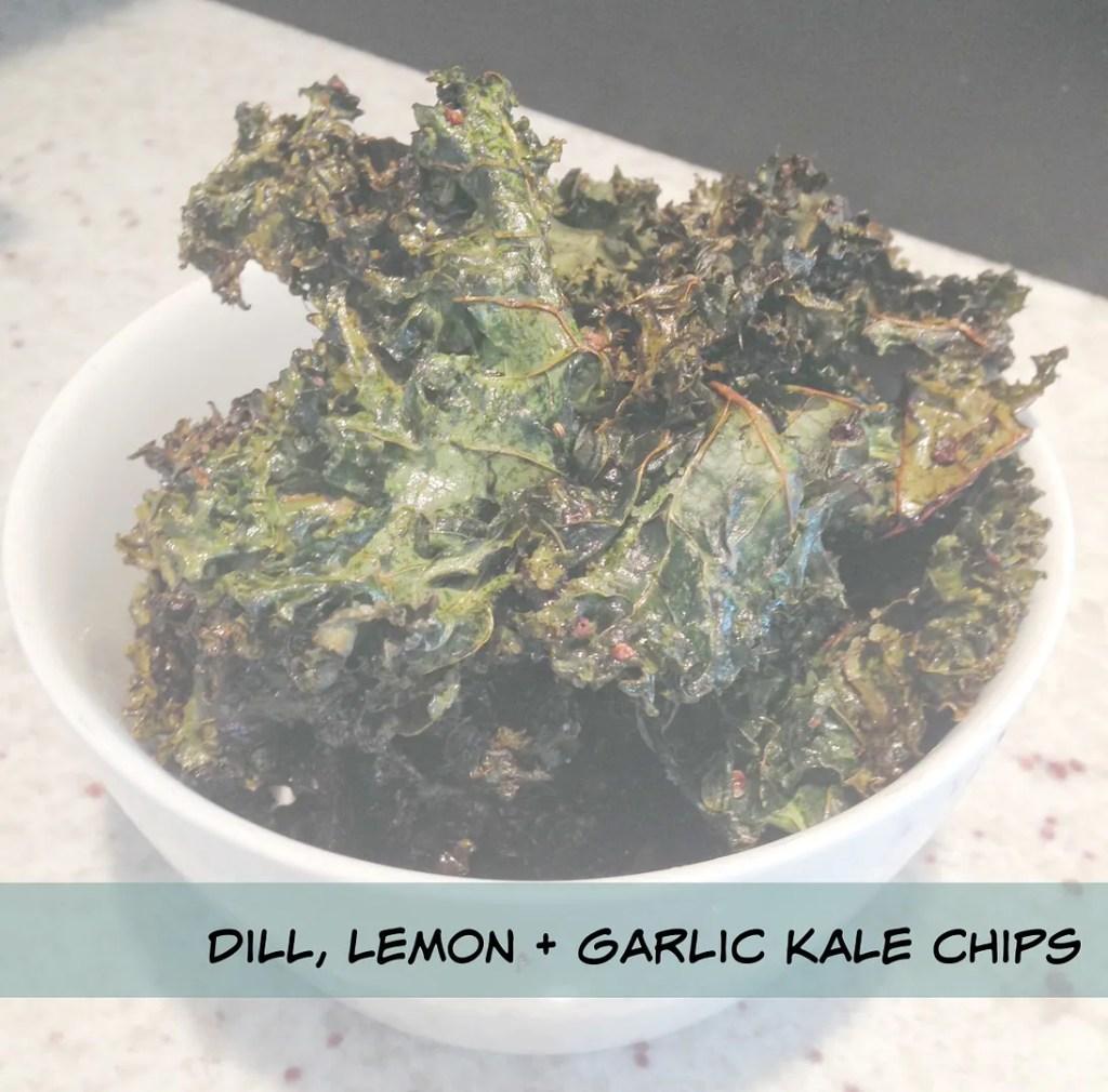 dill lemon and garlic kale chips recipe