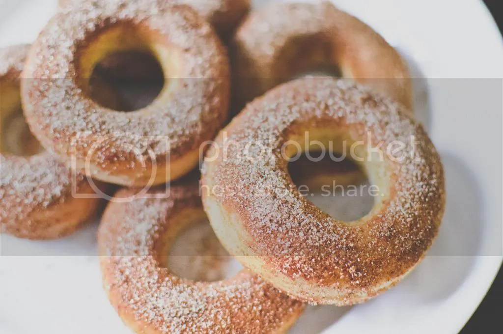 Baked Cinnamon Sugar Yeasted Donuts