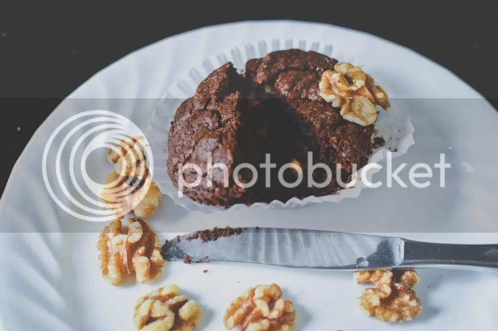 Chocolate Cream Cheese Walnut Muffins