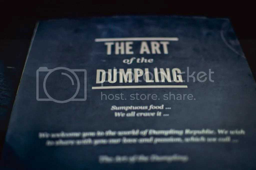 Dumpling Republic Menu