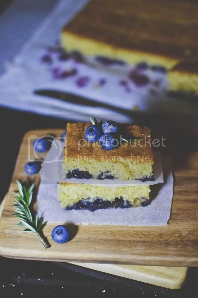 Blueberry Blondie Bars