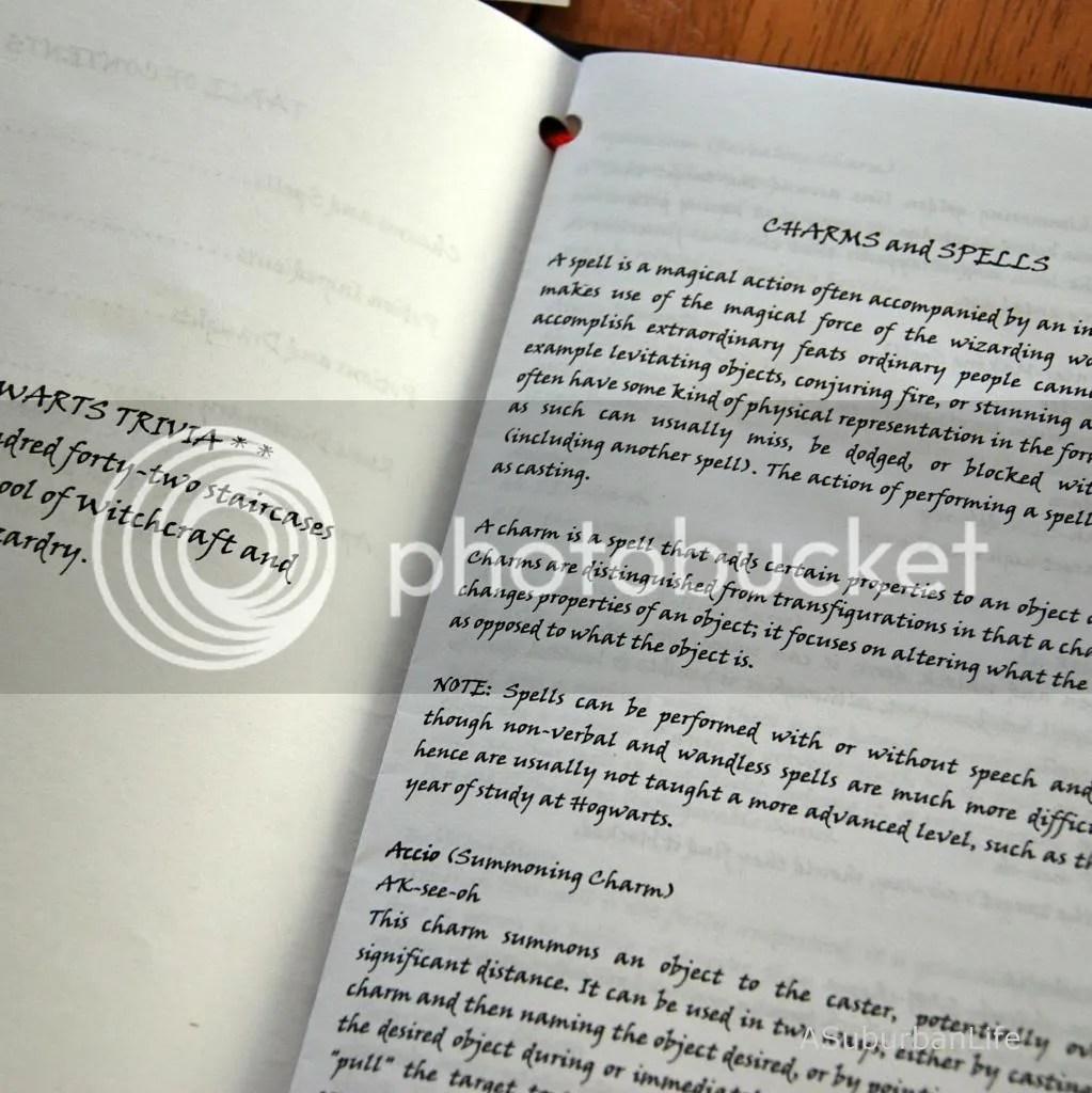 hogwarts lesson book