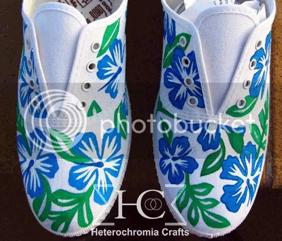 zapatillas shoes hawaii flowers summer diy