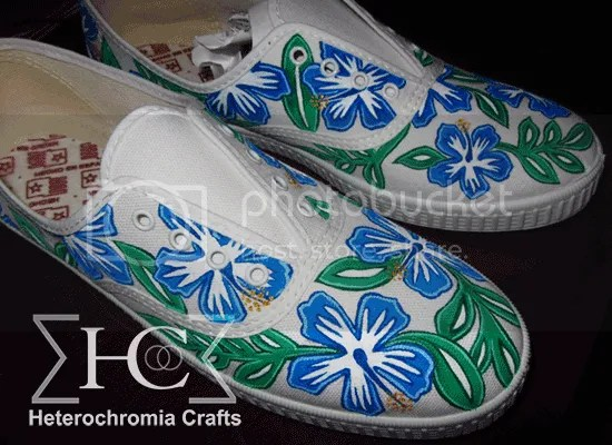 zapatillas hawaii diy shoes flowers summer