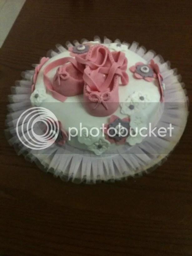 Ecco la torta per la mia piccola ballerina