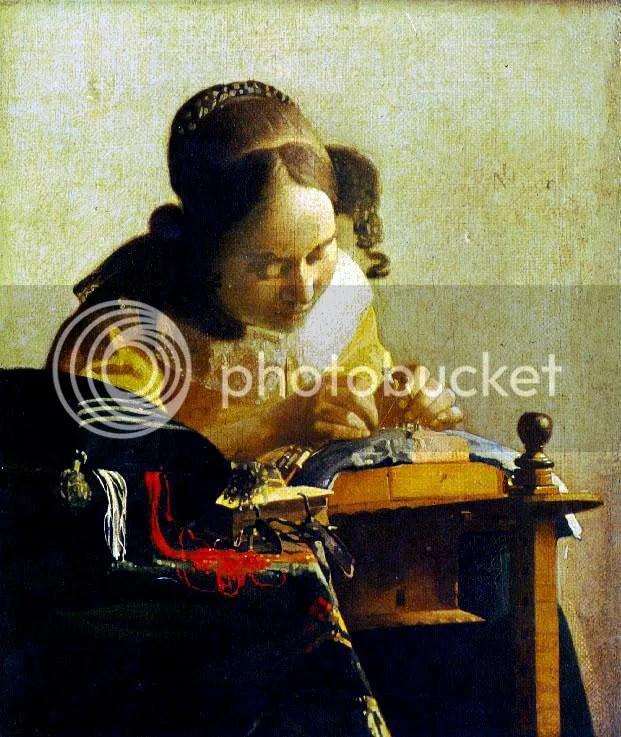 1669-70 Spetsknypplerskan, Vermeer