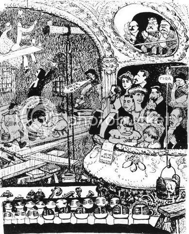 Julius och Margherita teckning