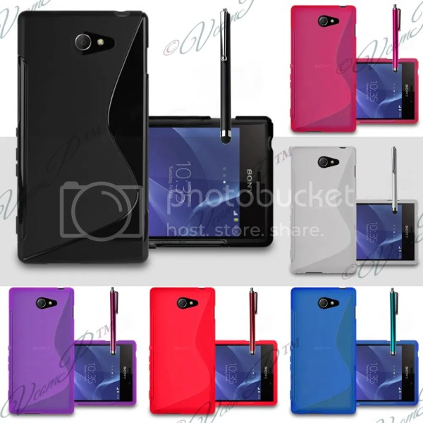 Cover etui pouch case thin silicone gel for sony xperia m2 ...