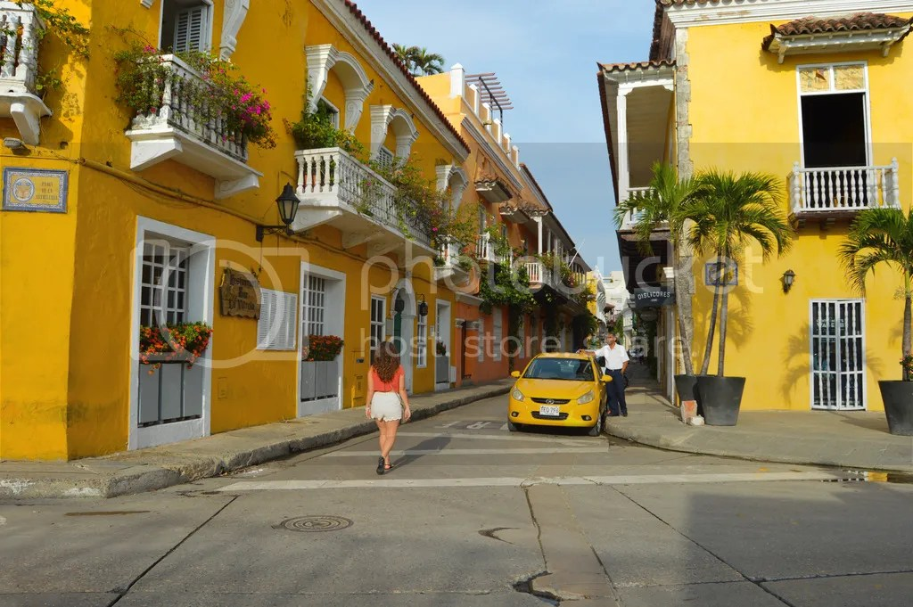 The vibrant streets of Cartagena, Colombia