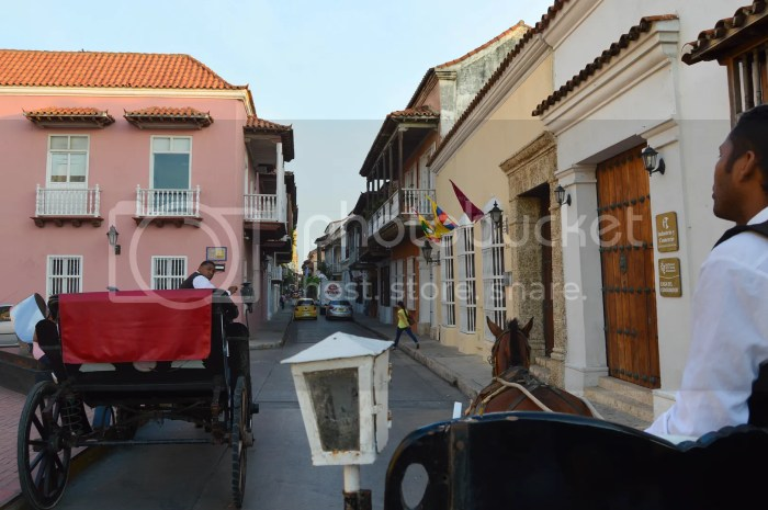 horse-drawn carriage ride in Cartagena, Colombia