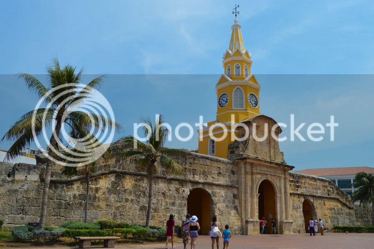 Torre del Roloj, the clock tower. Cartagena, Colombia
