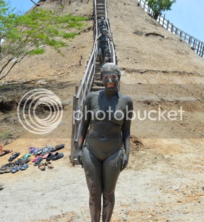 Mud bath in El Totumo