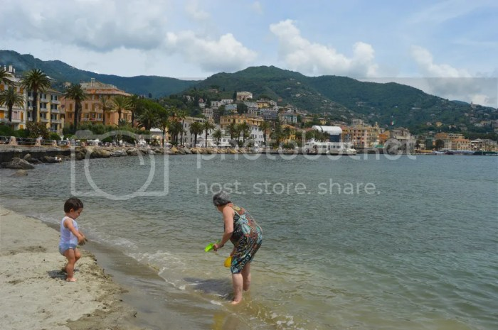 Beach in Rapallo, Italy
