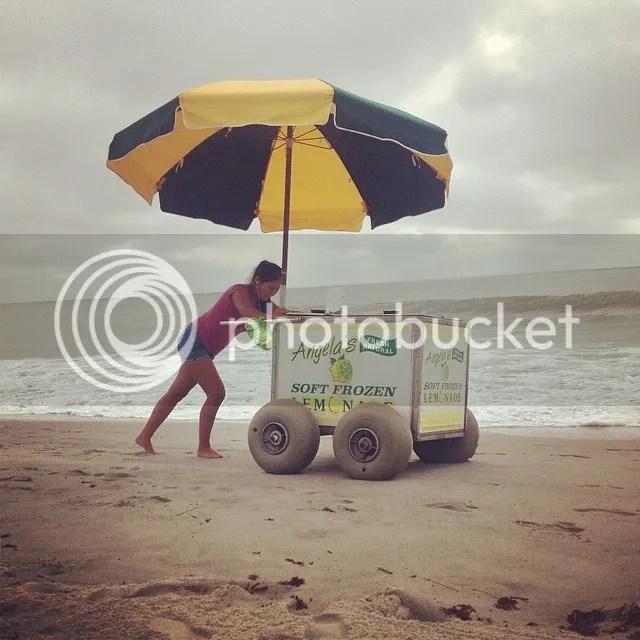 Well that looks like a fun job... #frozenlemonaid #lemonaidstand #beach #sand #water #ocean #myrtlebeach #travel photo 10609471_10204584239106809_2740769585252473187_n.jpg