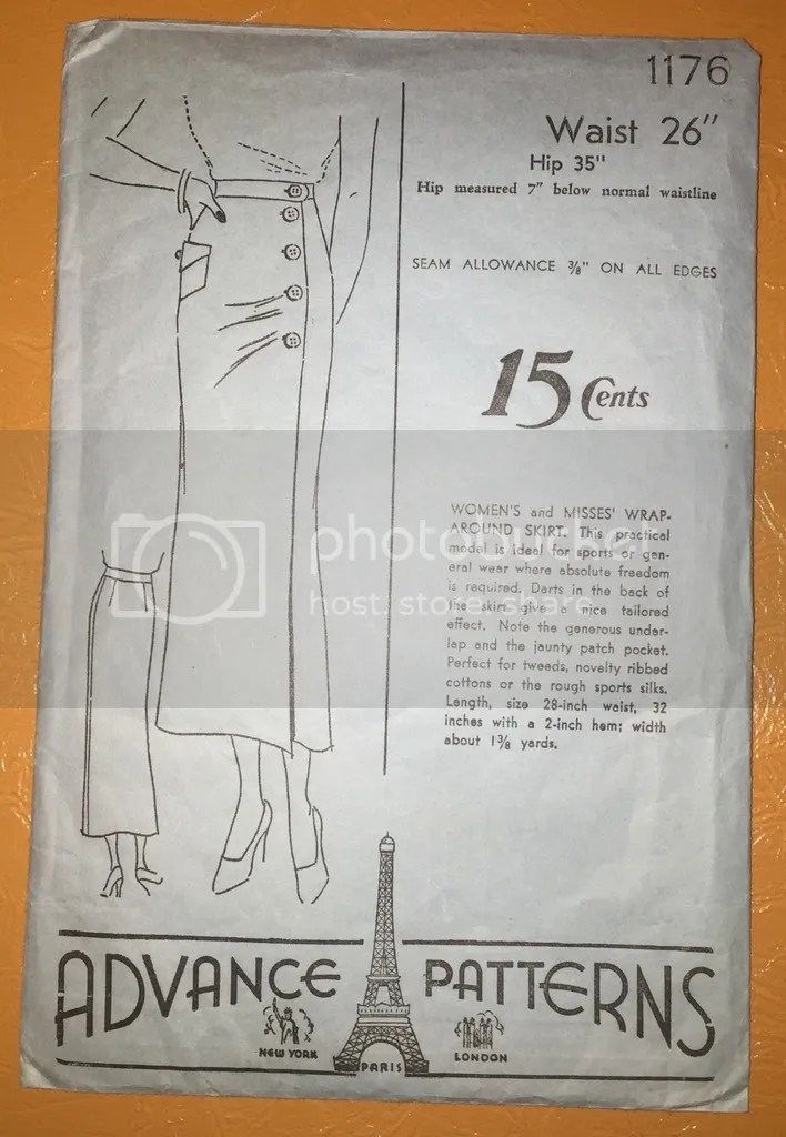 chloeheartsowls.com vintage sewing 1930s skirt - advance patterns 1176