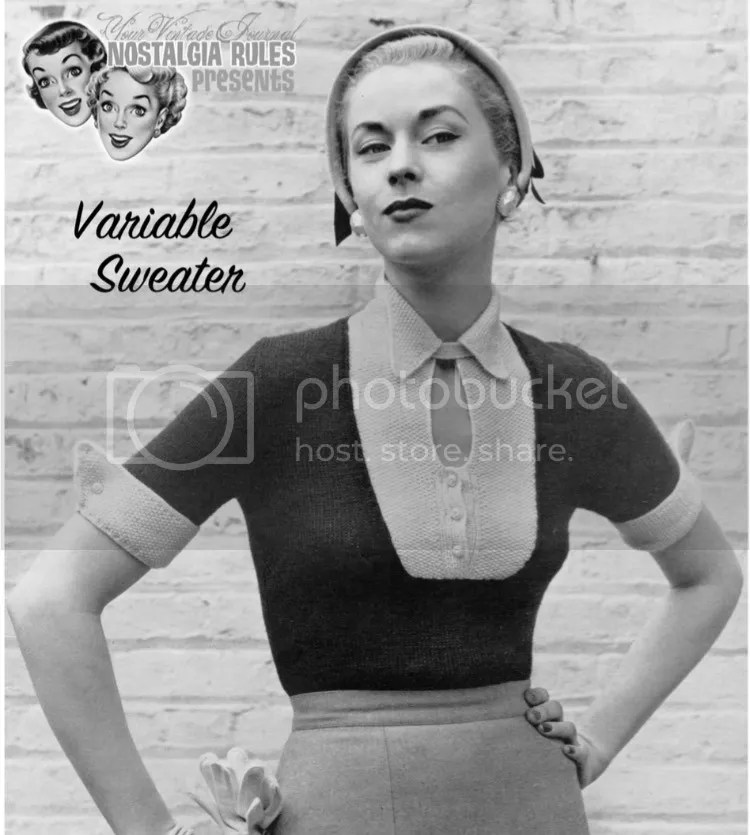 chloeheartsowls.com vintage knitting - 1950s variable sweater