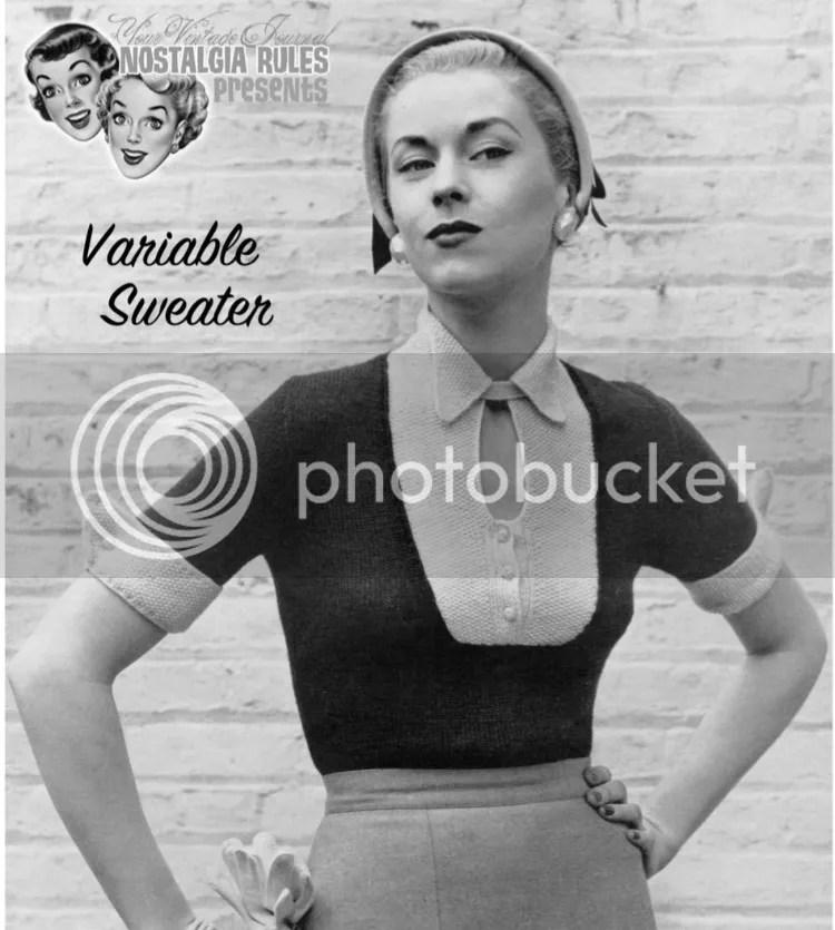 chloeheartsowls.com vintage knitting - 1950s variable sweater