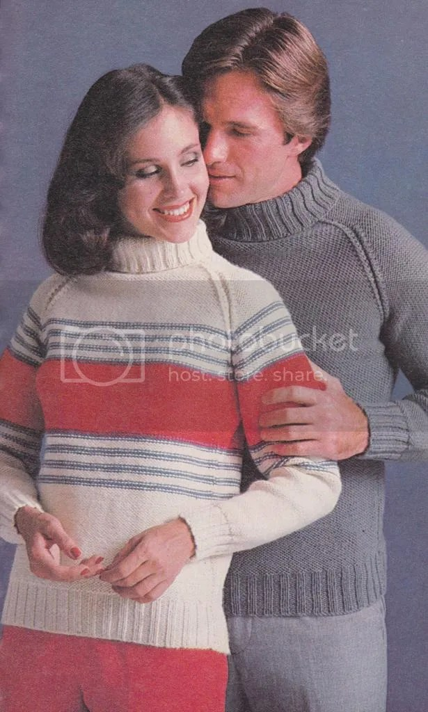chloeheartsowls.com 1970s striped turtleneck pullover knitting pattern