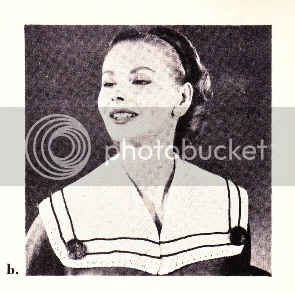 chloeheartsowls.com vintage crochet pattern 1950s sailor collar