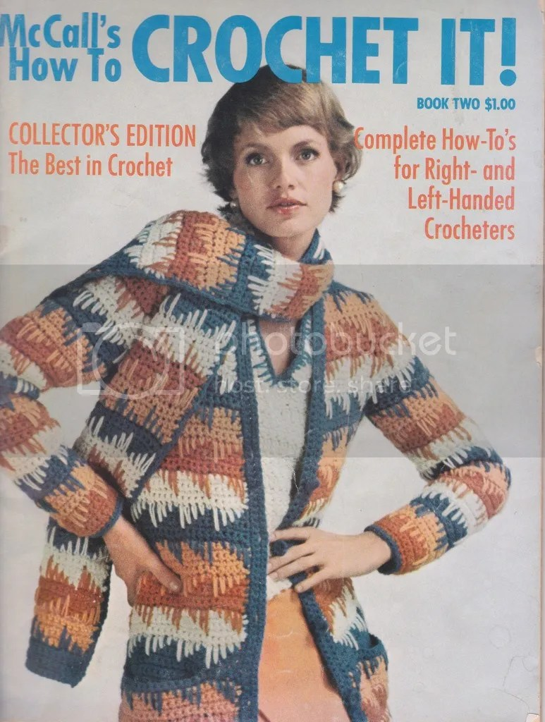 chloeheartsowls.com vintage crochet pattern - 1970s sweater and scarf set