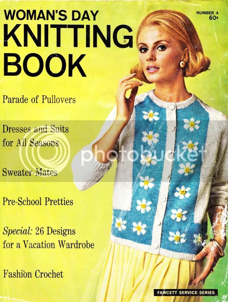 chloeheartsowls.com vintage knitting pattern 1960s posy-paneled cardigan image