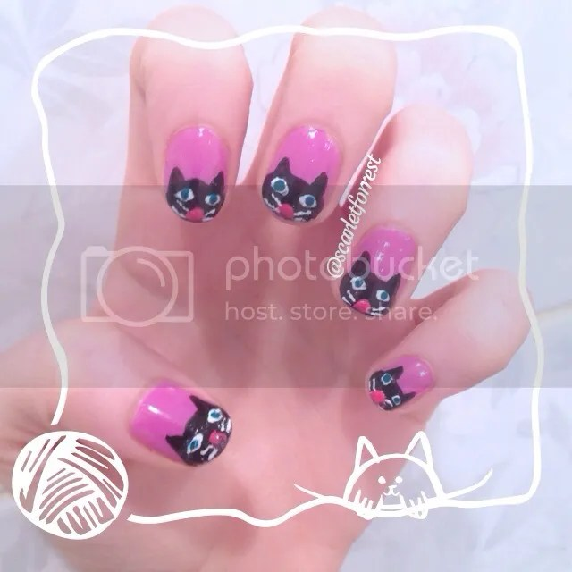 kitty cat nails
