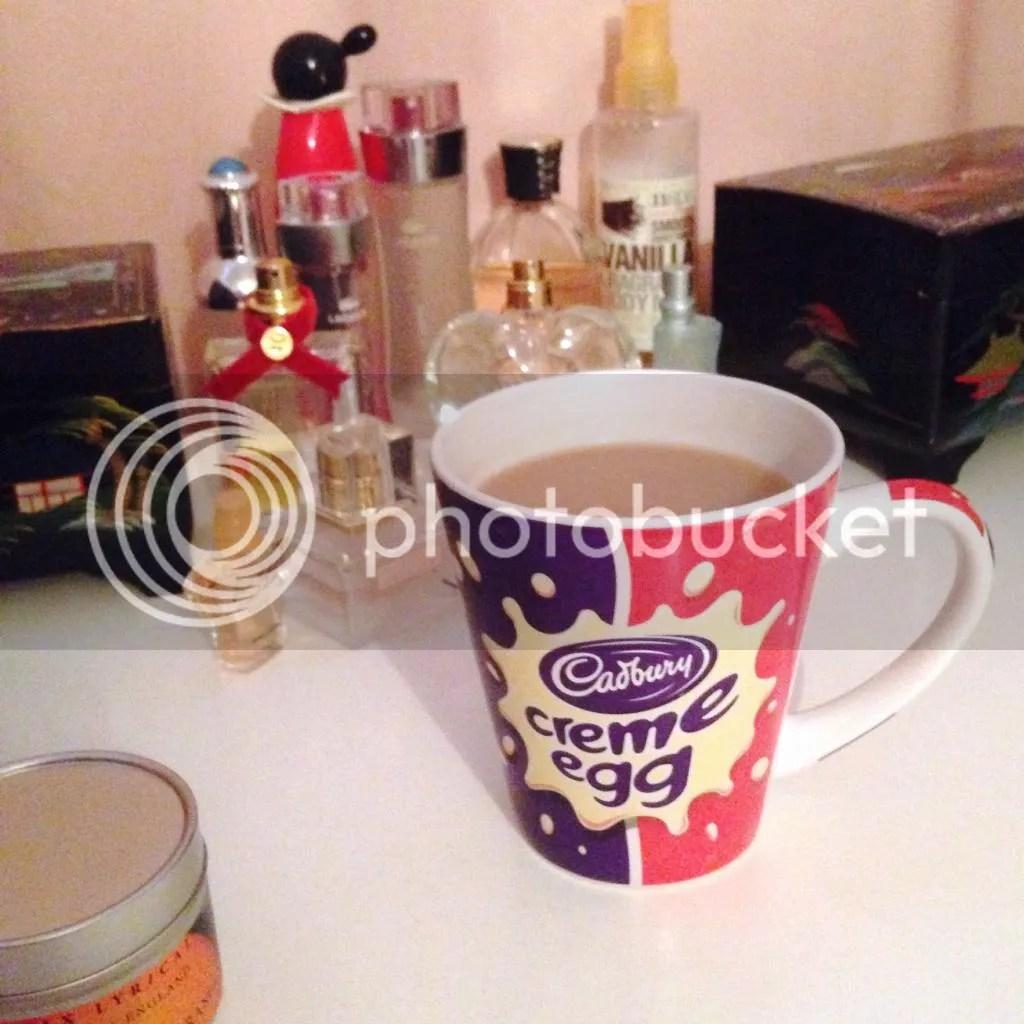 cream egg mug