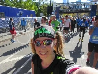 My selfie after crossing the finish line of the TCS New York City Marathon