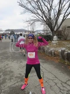 Me after finishing the Fast Freddie Five Mile Foot Feast - New Albany, Indiana